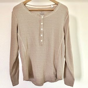 Sonoma long sleeve lace top size L